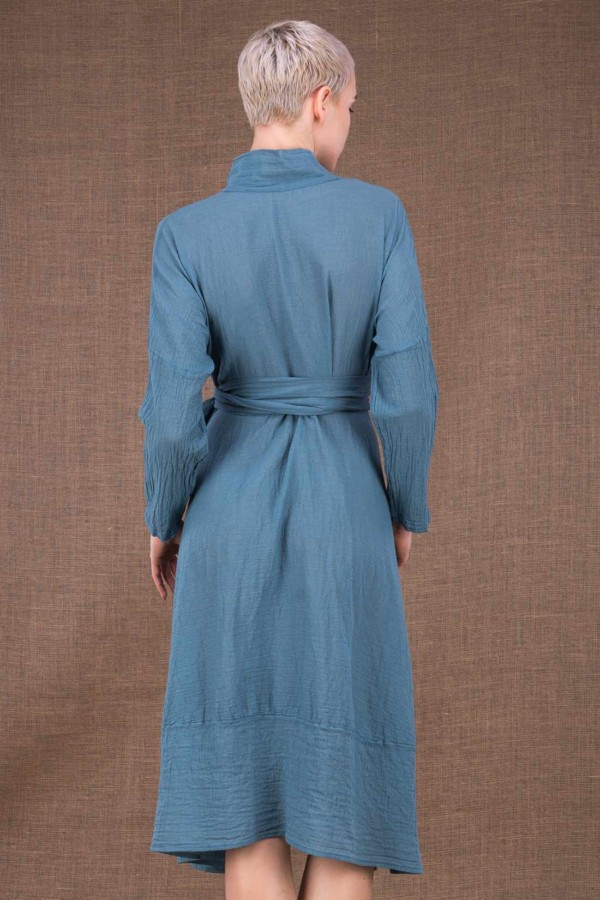 Sky blue cotton dress