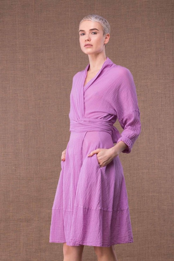 Purple Cotton Dress