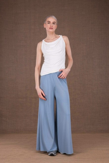 Ananas light blue trousers in viscose knit - 2