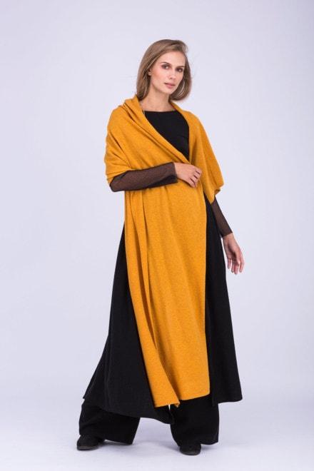 Tatry châle en laine couleur safran