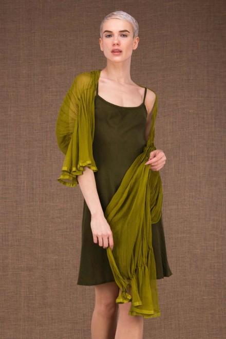 Cumulus shawl pistachio in silk - 2