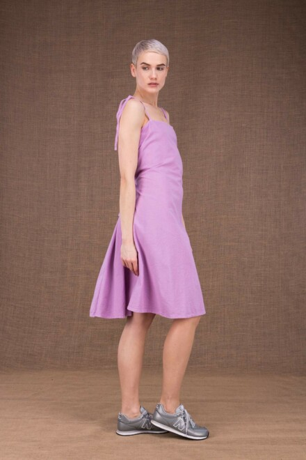 Ma short purple cotton dress - 1