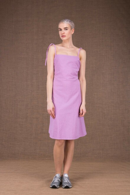 Ma short purple cotton dress - 2