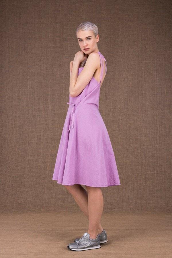 Ma short purple cotton dress - 3