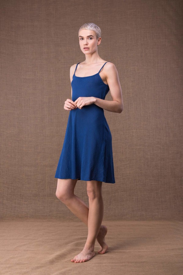 Miami Blue short cotton dress-2