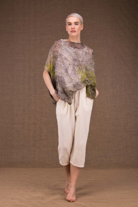 Ondine botanical printed silk top - 2