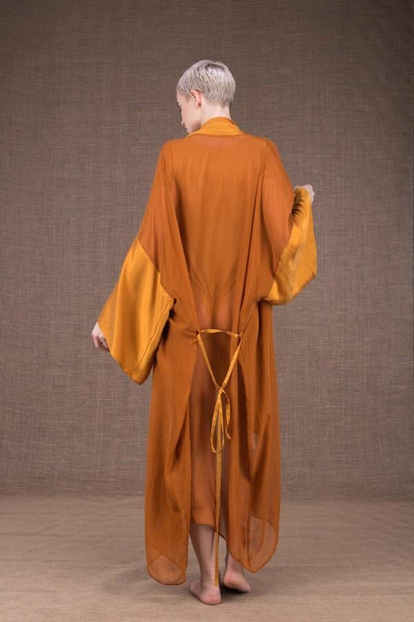 Wezen Safran kimono en soie - 4