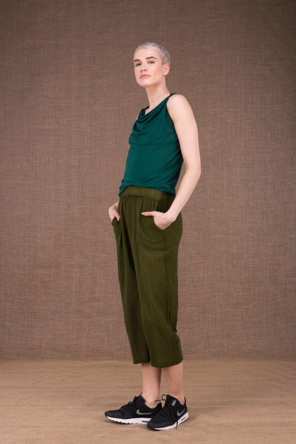Wiatr khaki cotton trousers - 1