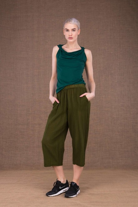 Wiatr khaki cotton trousers - 2