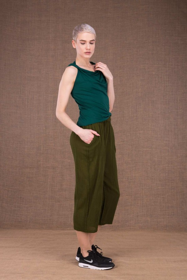 Wiatr khaki cotton trousers - 3