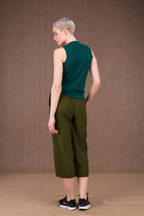 Wiatr khaki cotton trousers - 4