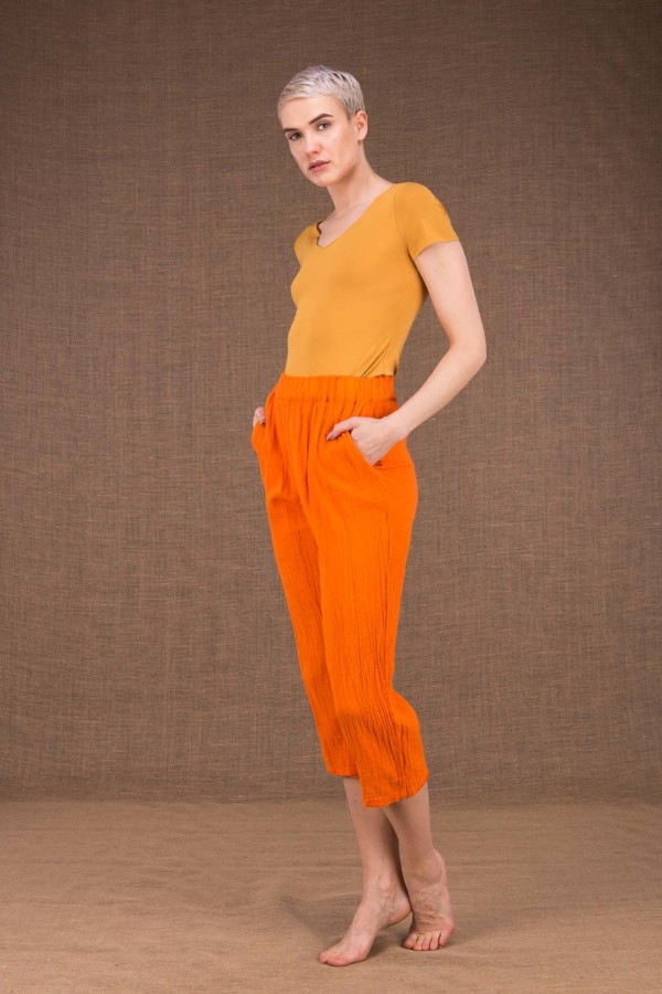 Wiatr pantalon orange en coton - 3