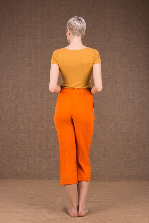Wiatr pantalon orange en coton - 4