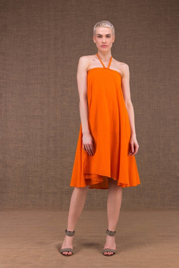 Arial robe orange en coton - 1