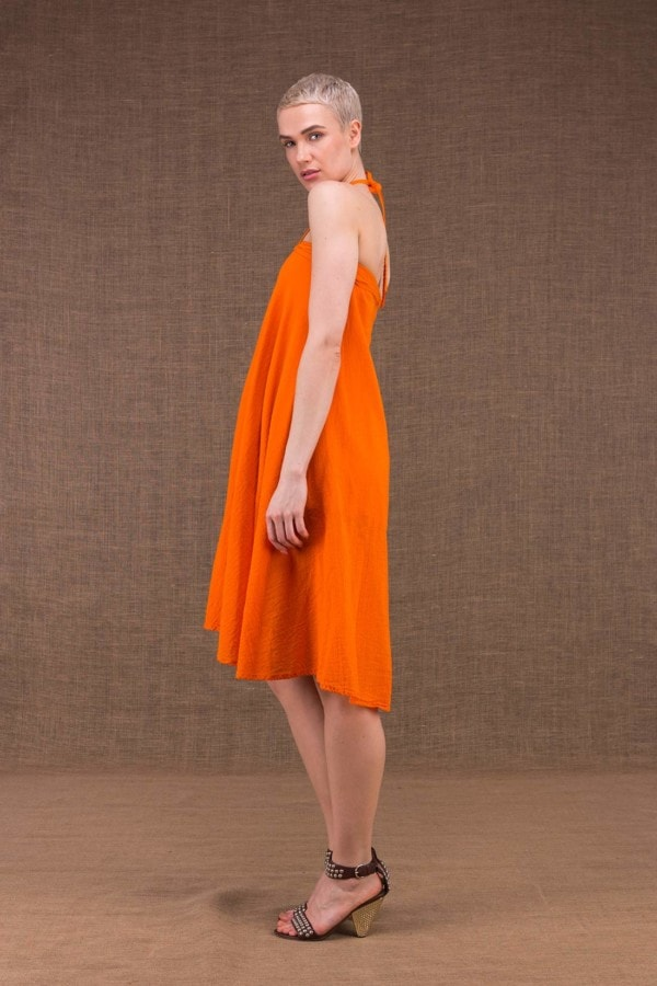 Arial orange cotton dress - 2