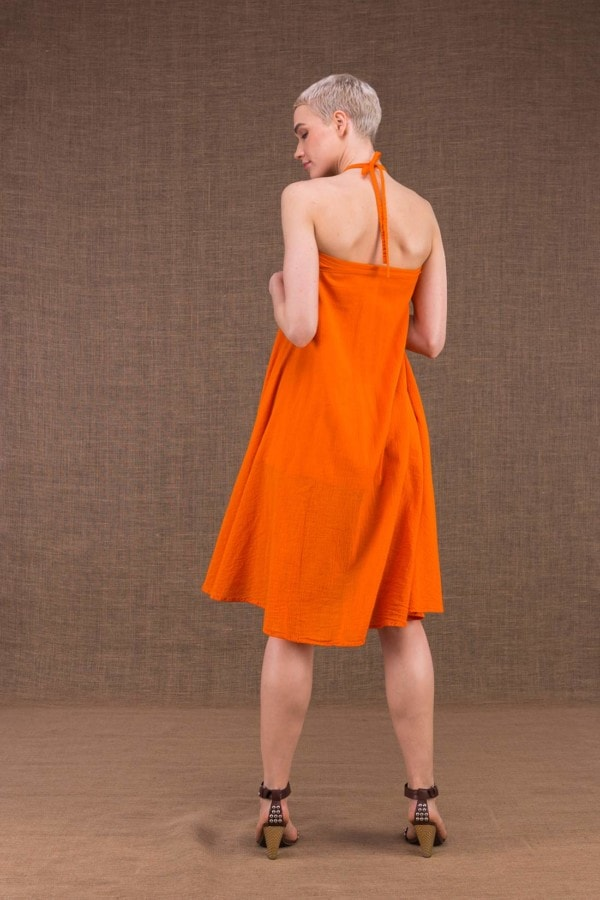 Arial robe orange en coton - 3