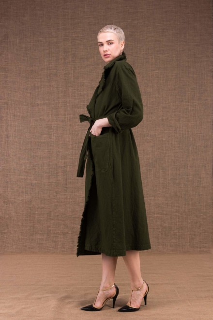 Bogart khaki cotton trench coat - 3