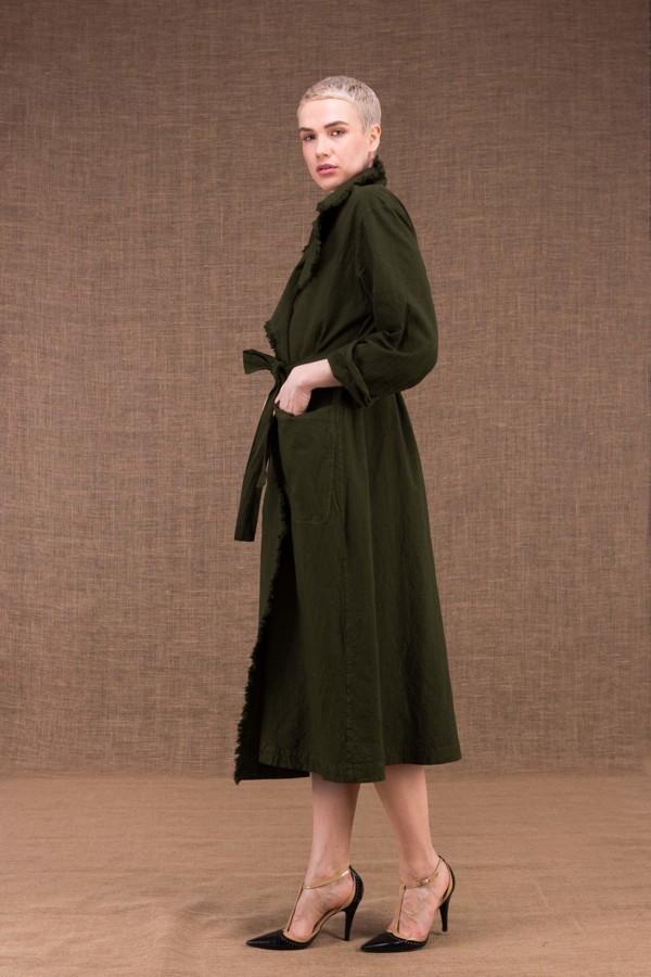 Bogart manteau trench kaki en coton - 3