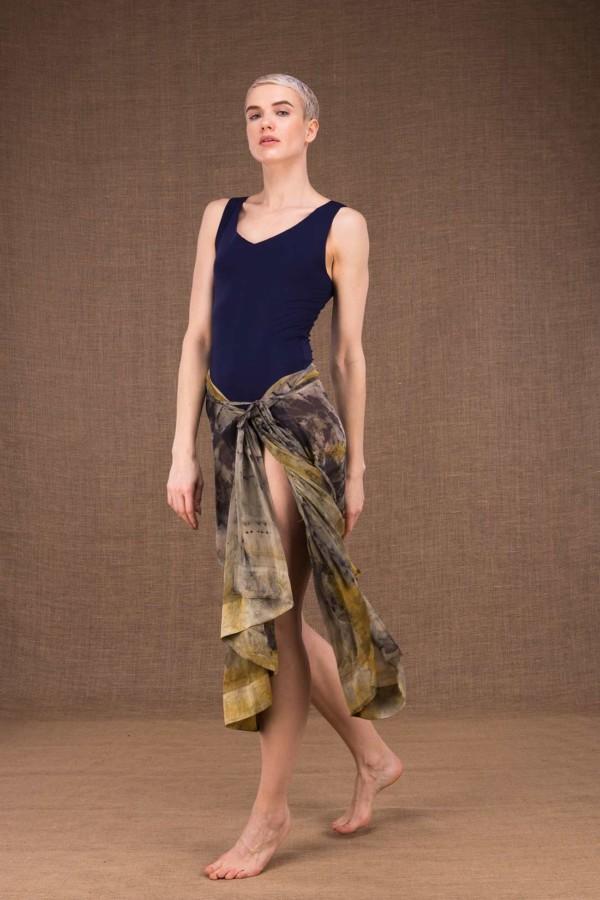 Bora Bora hand printed silk shawl - 4