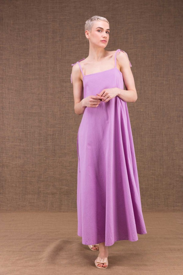 My LG flared long dress in cotton - 1