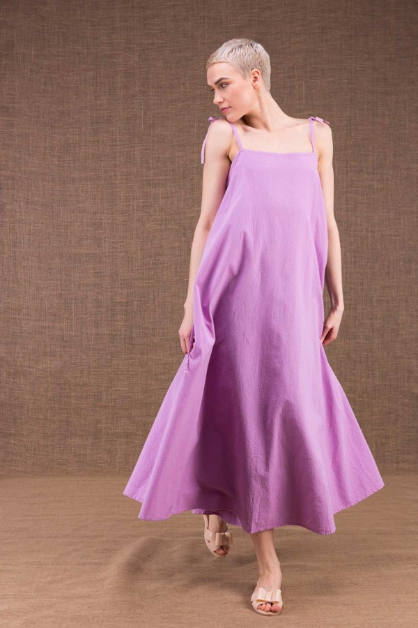My LG flared long dress in cotton - 2