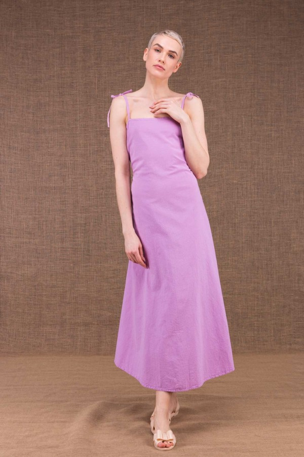 My LG flared long dress in cotton - 4