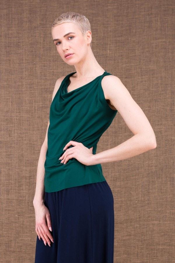 Parisa emerald top in viscose knit - 2