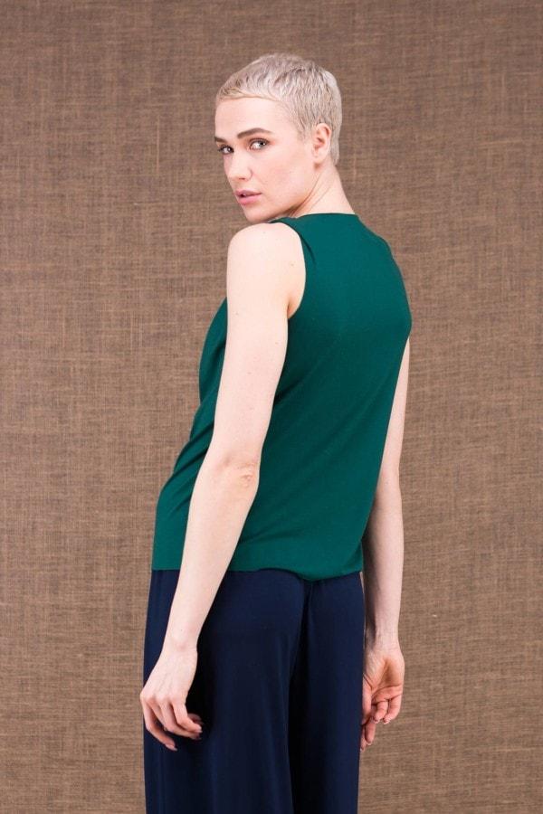 Parisa emerald top in viscose knit - 3