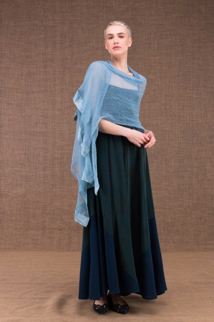 Sirro blue cotton shawl - 1