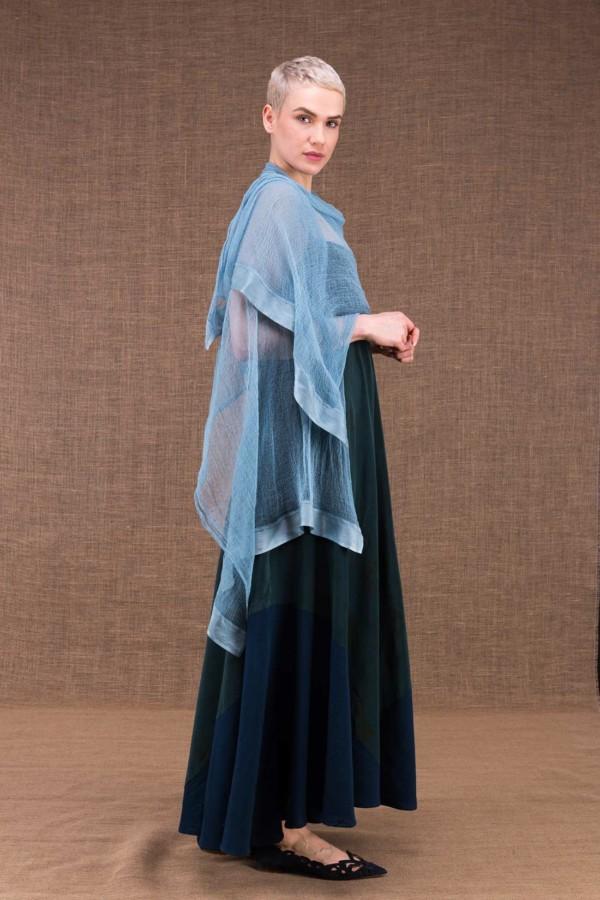 Sirro blue cotton shawl - 2