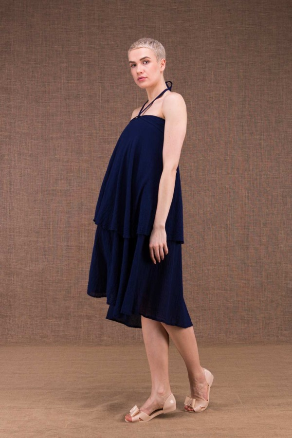 Arial blue cotton ink dress - 2