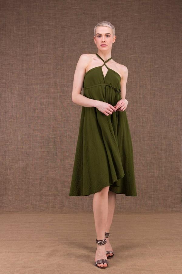 Arial khaki cotton dress - 1