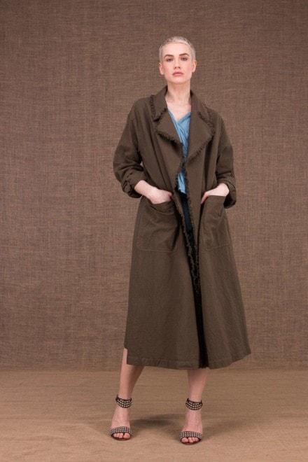 Bogart manteau trench noisette en coton - 1