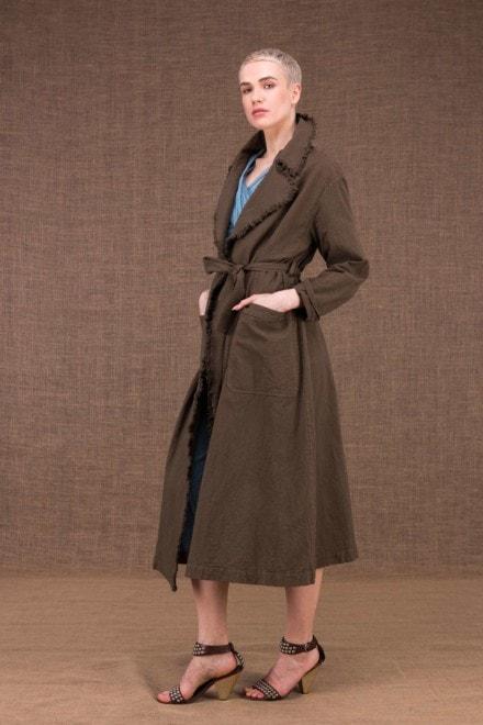 Bogart manteau trench noisette en coton - 3