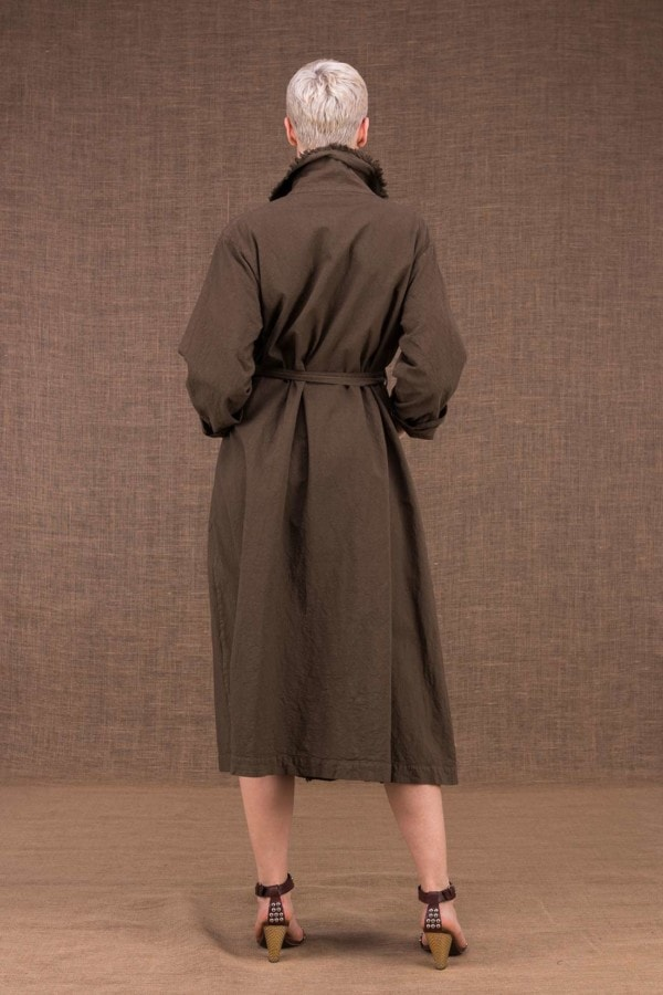 Bogart Cotton Trench Coat Nutty - 4