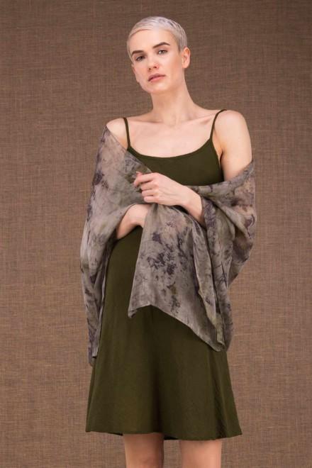 Bryza shawl eco print silk - 1