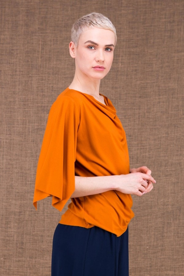 Epi top saffron in viscose knit - 2
