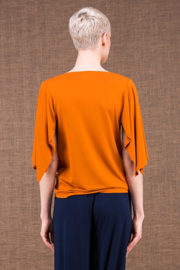 Epi top saffron in viscose knit - 3