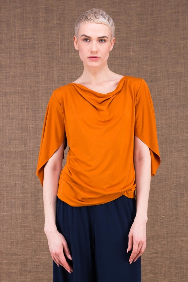 Epi top saffron in viscose knit - 4