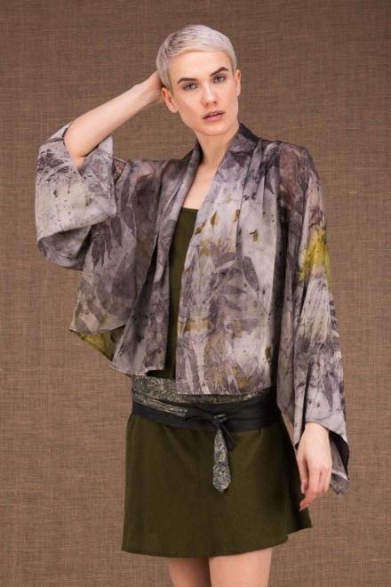 Fiji kimono short ecoprint silk - 1