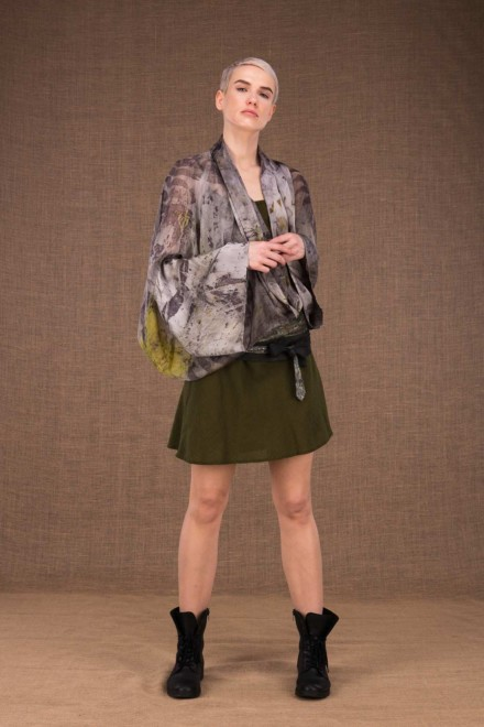 Fiji kimono short ecoprint silk - 2