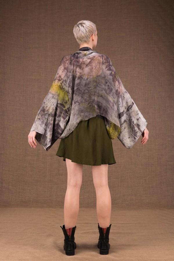 Fiji kimono short ecoprint silk - 4