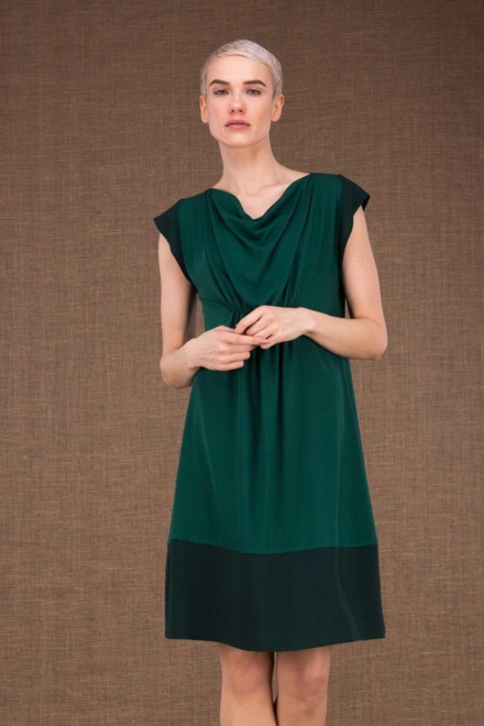 Gipsy mid emerald short dress in viscose knit - 1