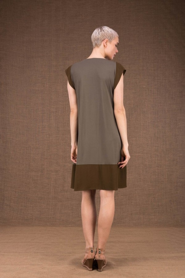Gipsy robe mis longue olive en maille de viscose - 3