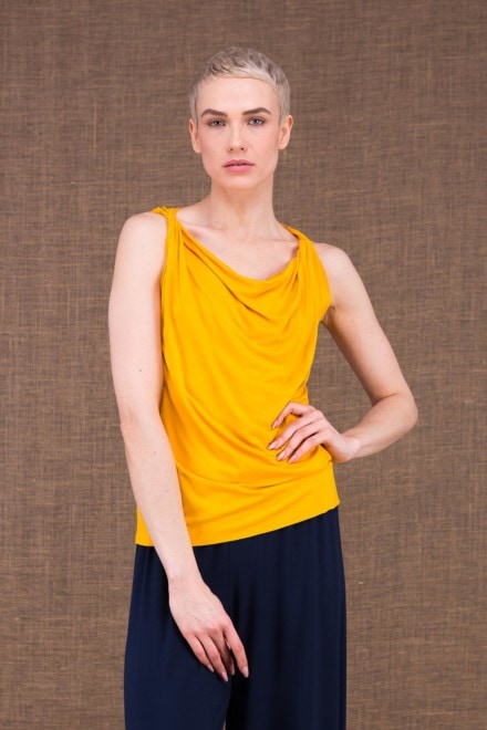 Parisa yellow viscose knit top - 1