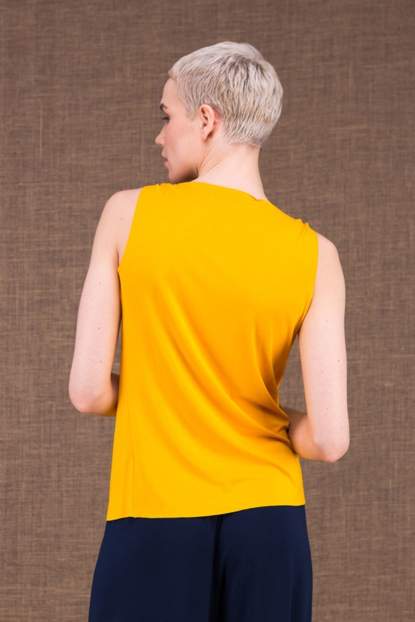 Parisa yellow viscose knit top - 2