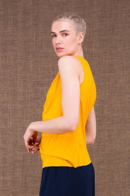 Parisa jaune top en maille de viscose - 3