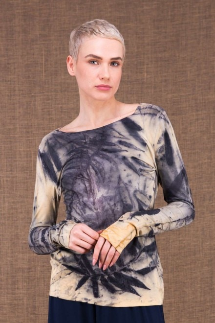 Safari Claire top imprime main en maille de viscose - 4