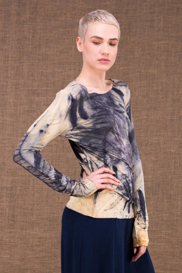 Safari Claire printed top in viscose knit - 6