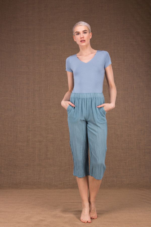 Wiatr blue cotton pants - 1